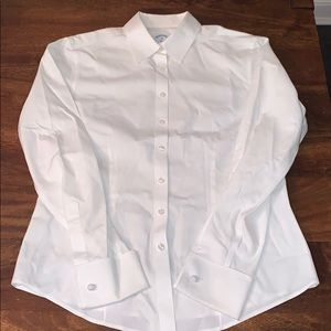 Brooks Brothers women's white button down shirt